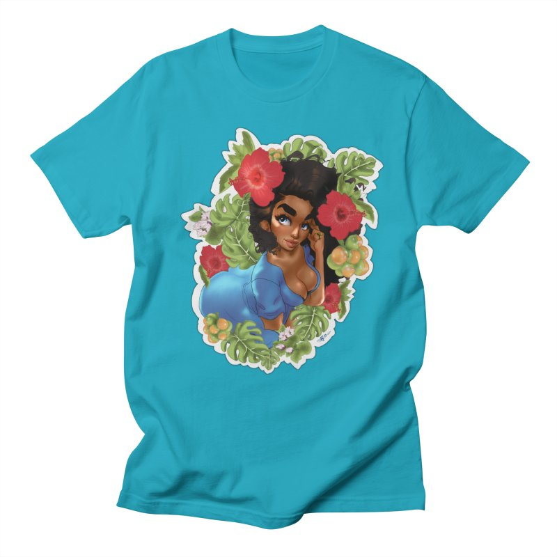Cutie with the curls - Blue Men's T-Shirt by Justifiable Concepts Apparel and Goods