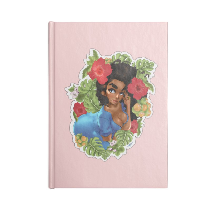 Cutie with the curls - Blue Accessories Notebook by Justifiable Concepts Apparel and Goods