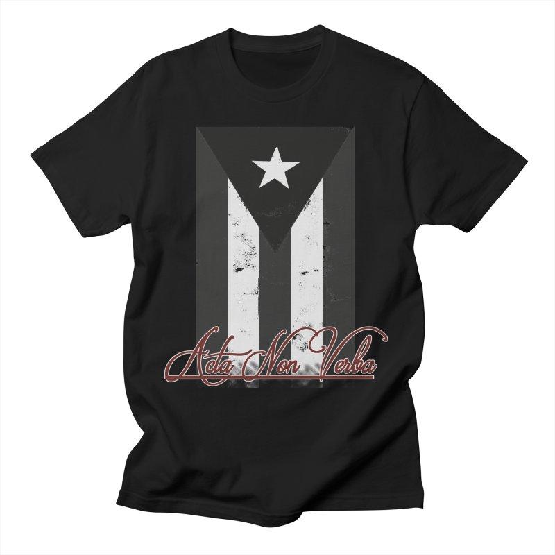 Boricua, Acta Non Verba Men's T-Shirt by Justifiable Concepts Apparel and Goods