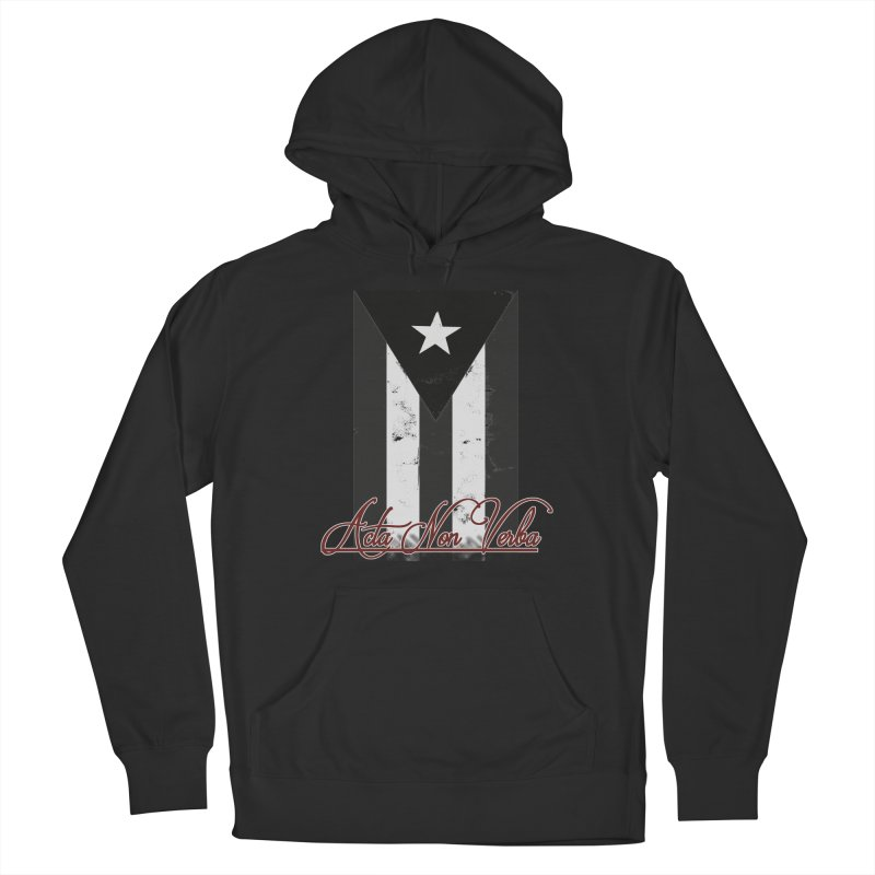 Boricua, Acta Non Verba Men's Pullover Hoody by Justifiable Concepts Apparel and Goods