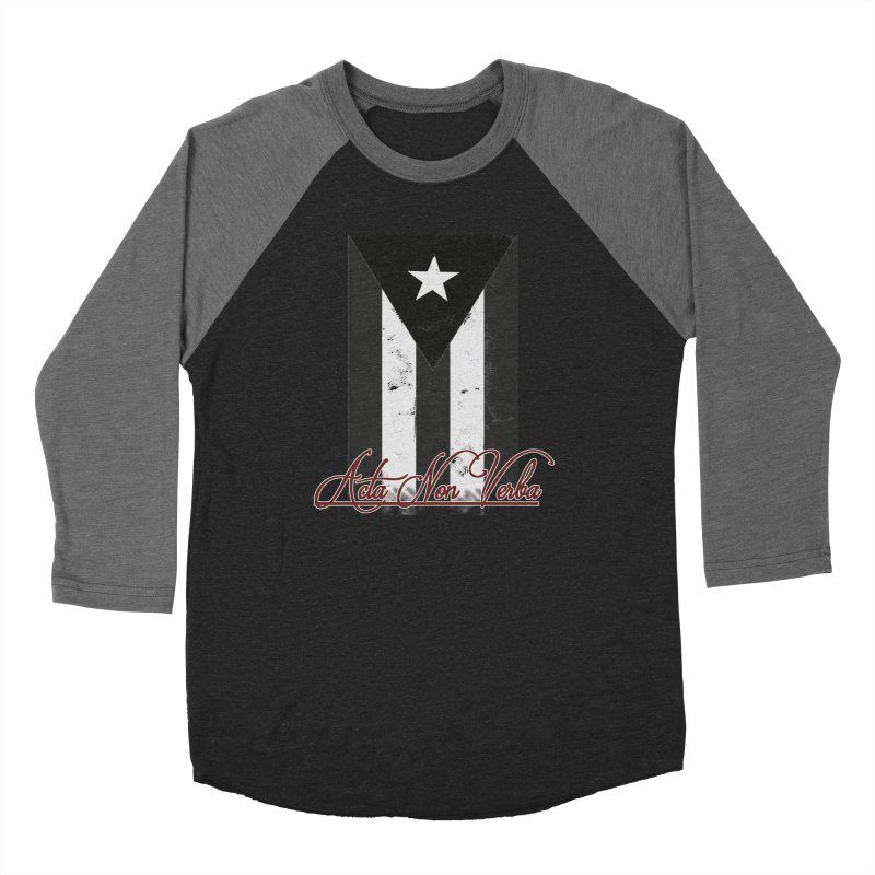 Boricua, Acta Non Verba Women's Longsleeve T-Shirt by Justifiable Concepts Apparel and Goods