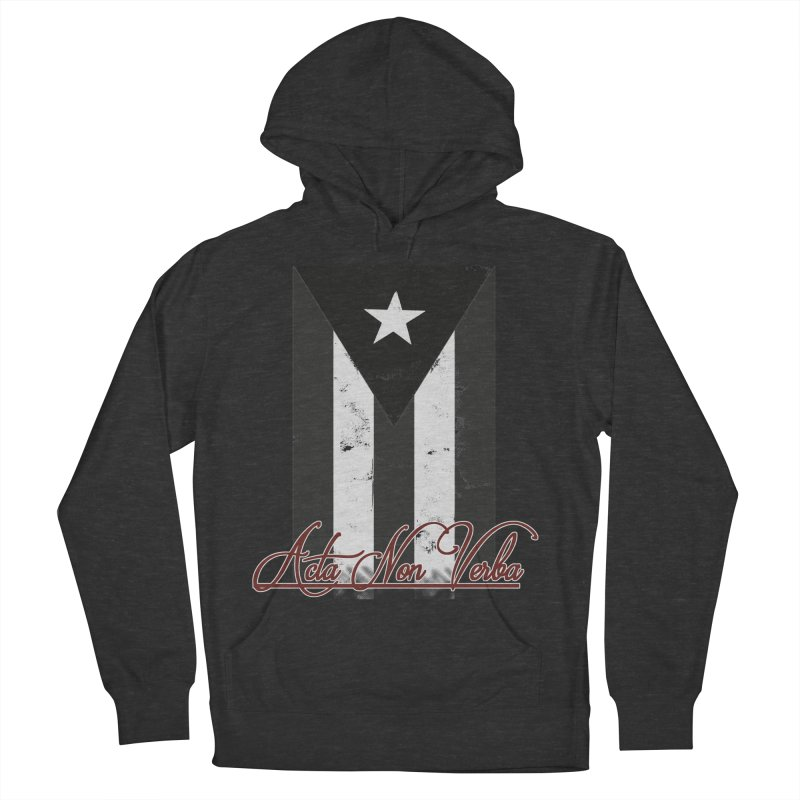 Boricua, Acta Non Verba Women's French Terry Pullover Hoody by Justifiable Concepts Apparel and Goods