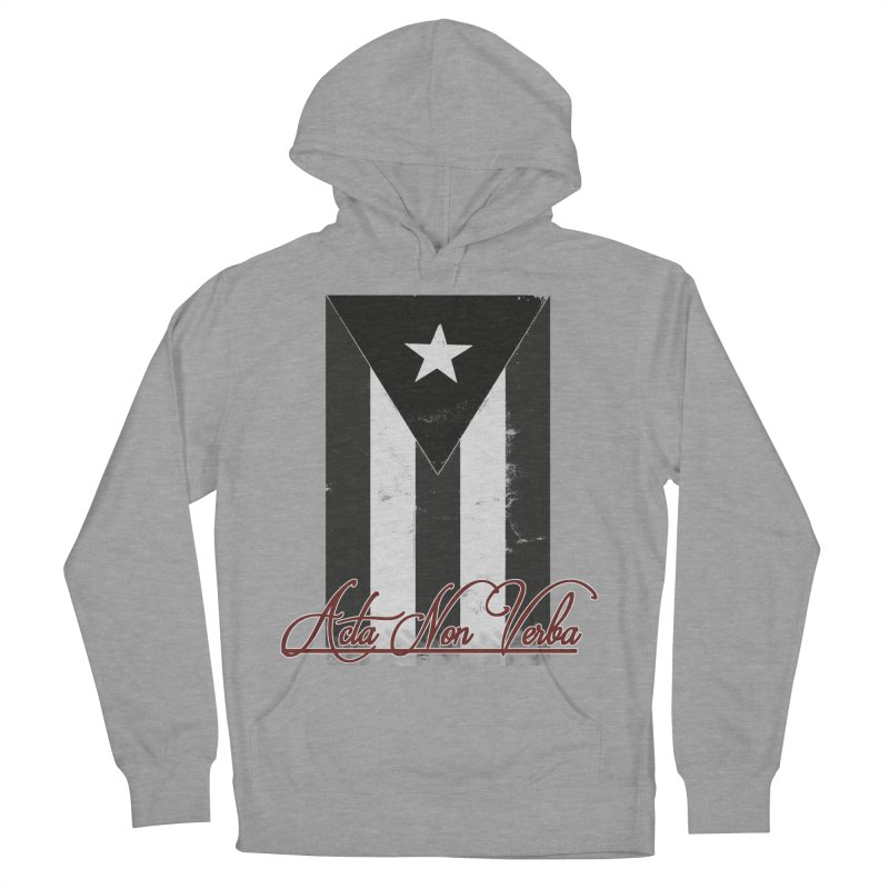 Boricua, Acta Non Verba Men's French Terry Pullover Hoody by Justifiable Concepts Apparel and Goods