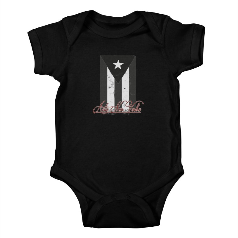 Boricua, Acta Non Verba Kids Baby Bodysuit by Justifiable Concepts Apparel and Goods