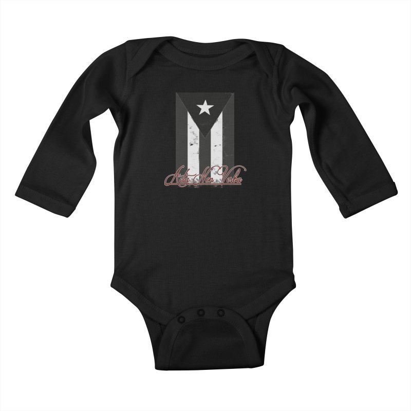 Boricua, Acta Non Verba Kids Baby Longsleeve Bodysuit by Justifiable Concepts Apparel and Goods