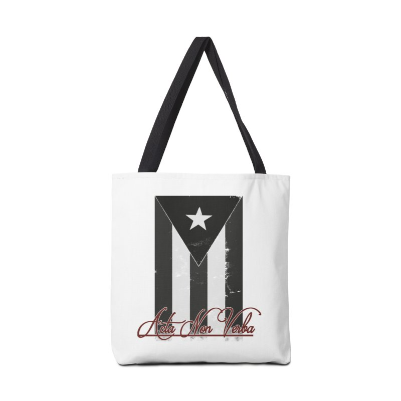 Boricua, Acta Non Verba Accessories Tote Bag Bag by Justifiable Concepts Apparel and Goods