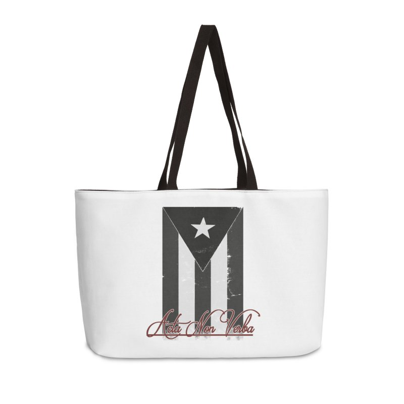 Boricua, Acta Non Verba Accessories Weekender Bag Bag by Justifiable Concepts Apparel and Goods