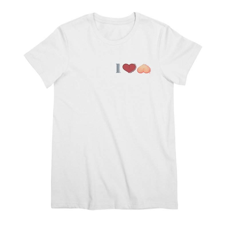 ILuh Peach Women's Premium T-Shirt by Justifiable Concepts Apparel and Goods