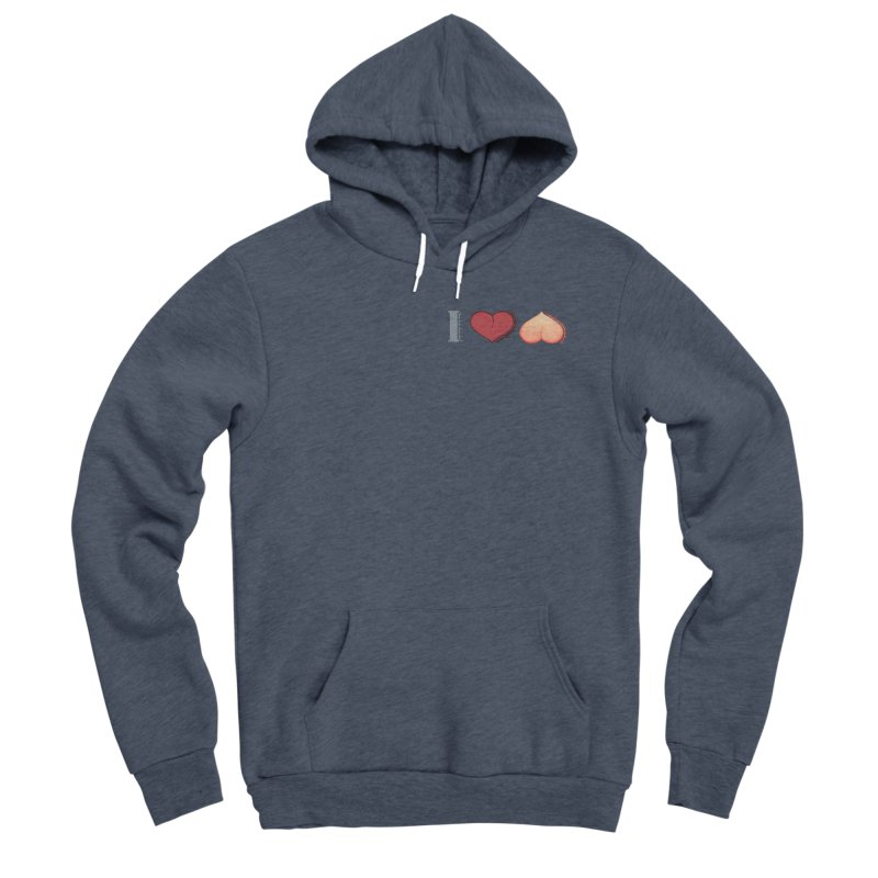 ILuh Peach Women's Sponge Fleece Pullover Hoody by Justifiable Concepts Apparel and Goods