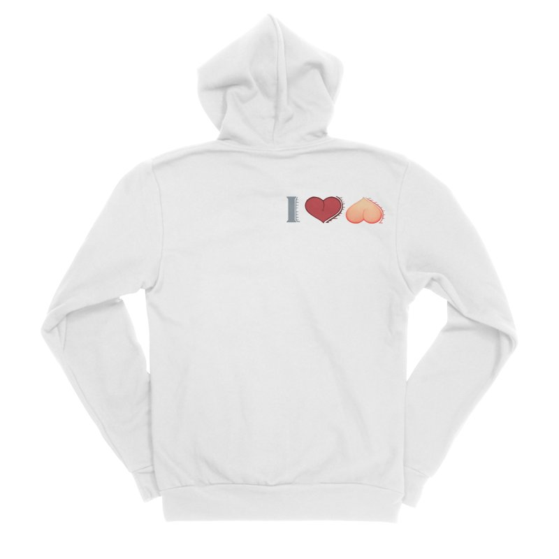ILuh Peach Men's Sponge Fleece Zip-Up Hoody by Justifiable Concepts Apparel and Goods