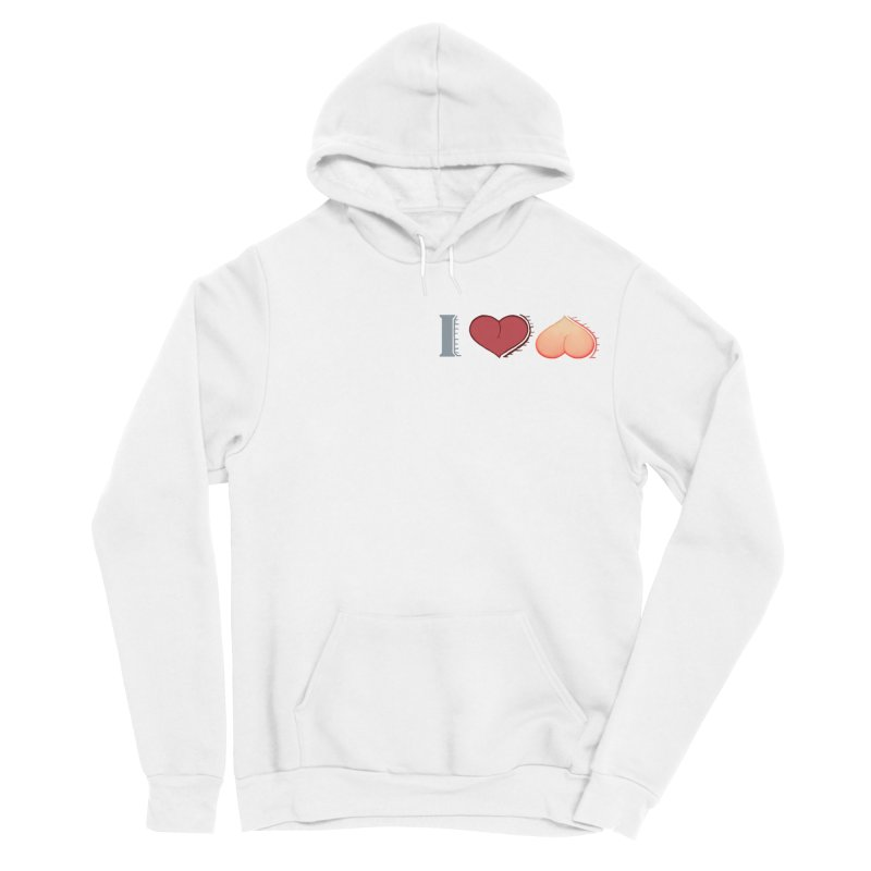 ILuh Peach Men's Sponge Fleece Pullover Hoody by Justifiable Concepts Apparel and Goods