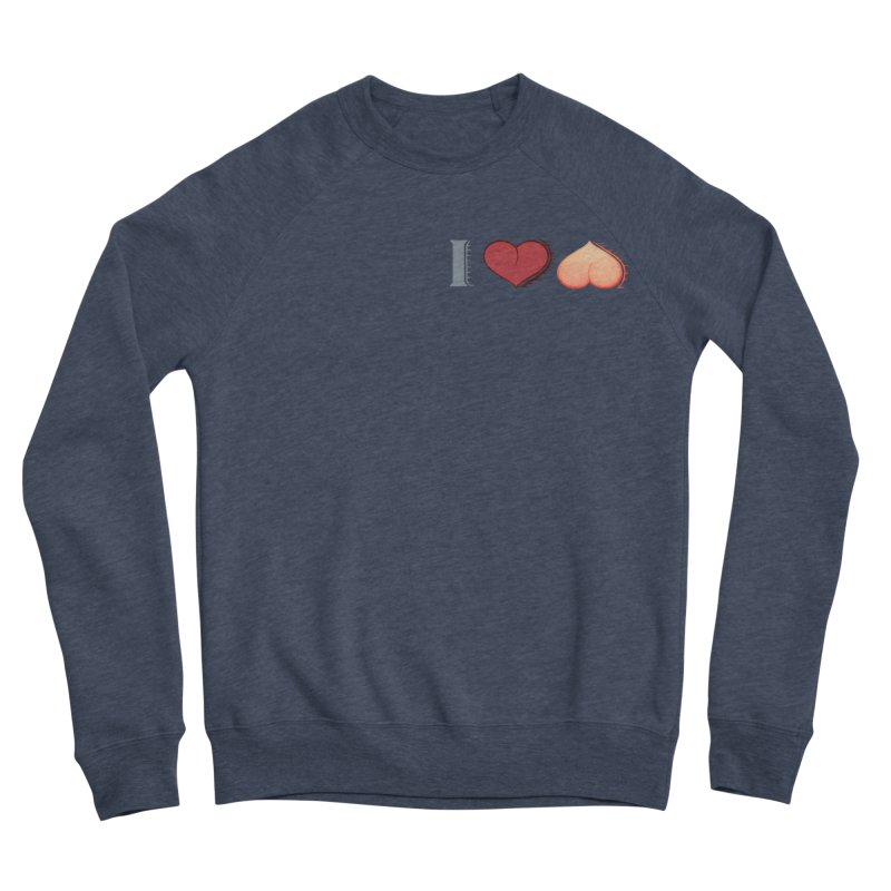 ILuh Peach Men's Sponge Fleece Sweatshirt by Justifiable Concepts Apparel and Goods