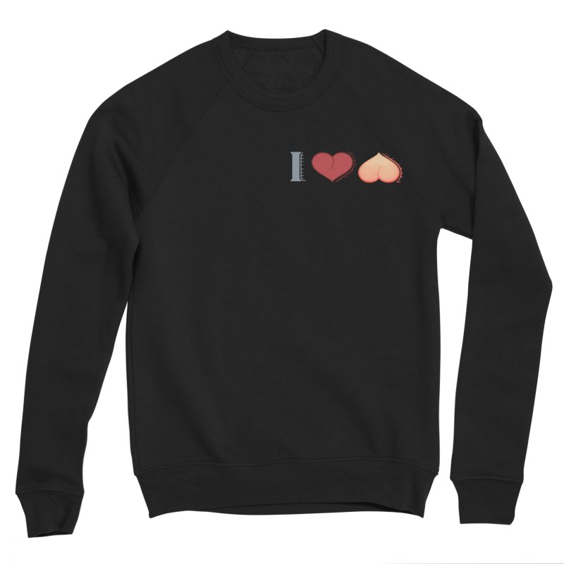 ILuh Peach Women's Sponge Fleece Sweatshirt by Justifiable Concepts Apparel and Goods