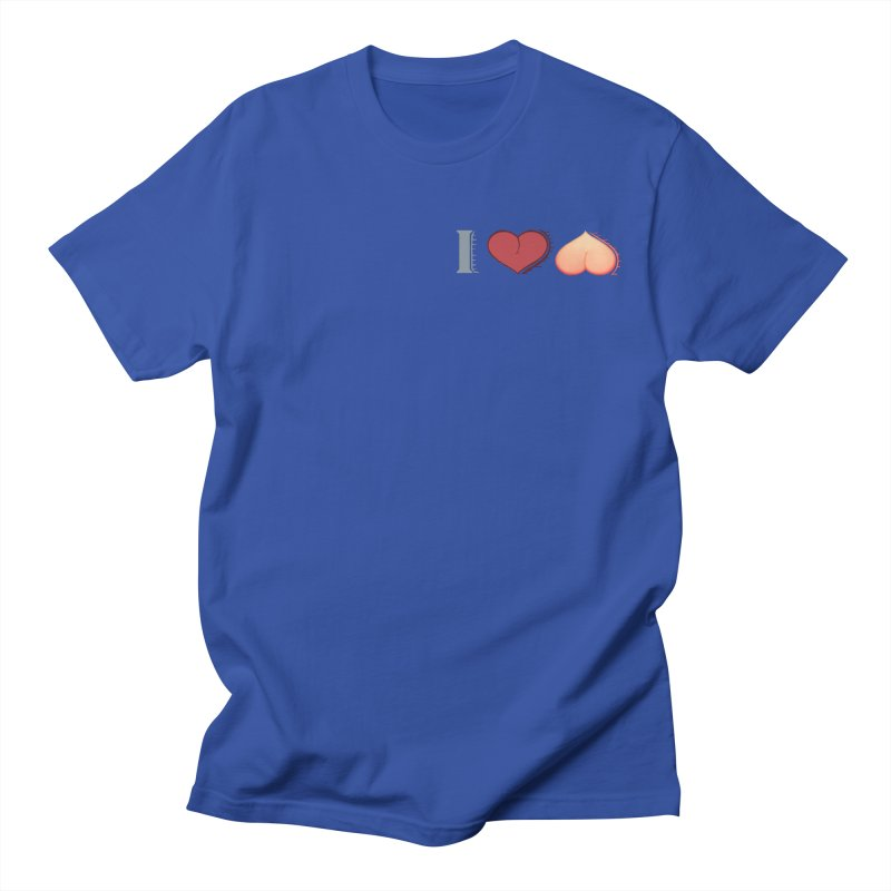 ILuh Peach Men's T-Shirt by Justifiable Concepts Apparel and Goods