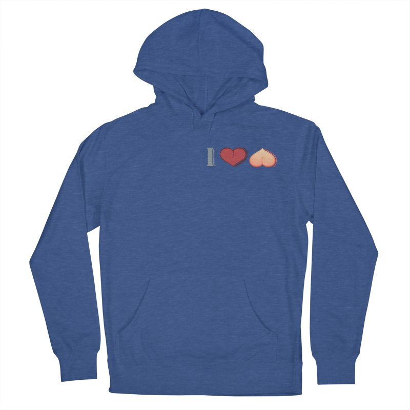 ILuh Peach Men's French Terry Pullover Hoody by Justifiable Concepts Apparel and Goods