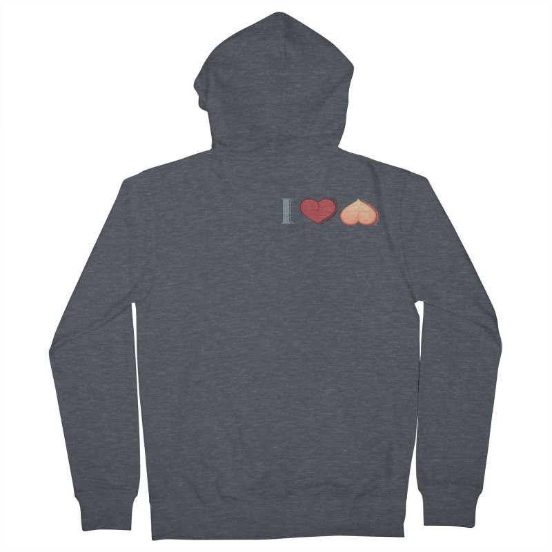 ILuh Peach Women's French Terry Zip-Up Hoody by Justifiable Concepts Apparel and Goods