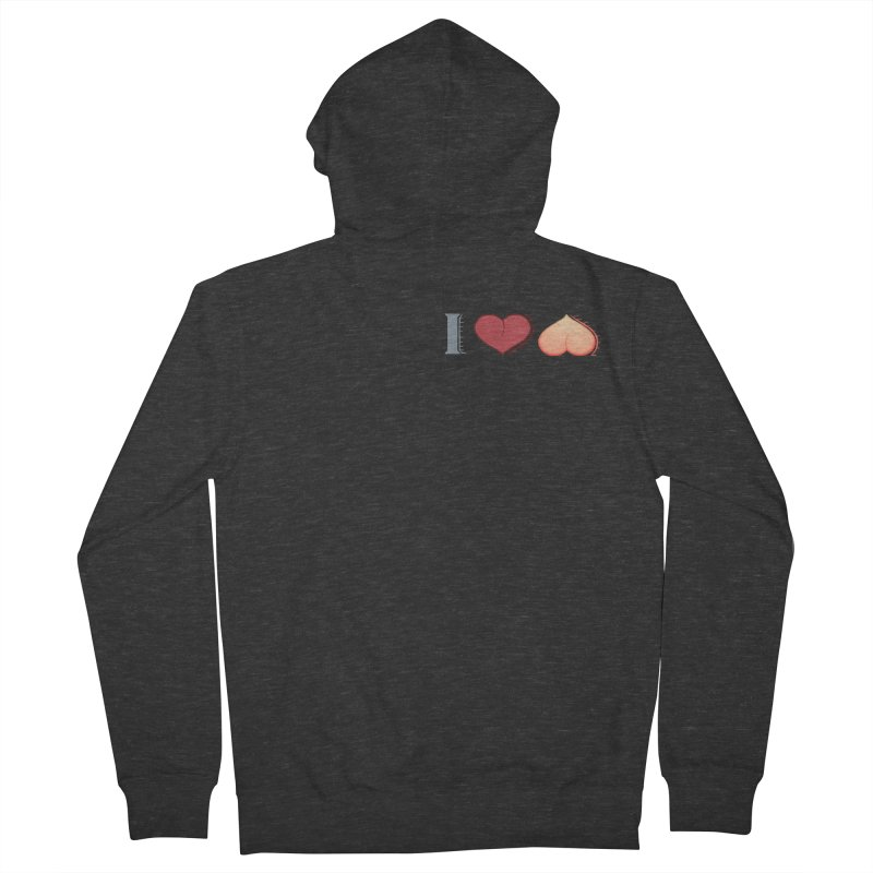 ILuh Peach Men's French Terry Zip-Up Hoody by Justifiable Concepts Apparel and Goods