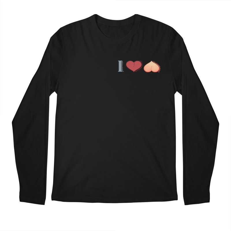 ILuh Peach Men's Regular Longsleeve T-Shirt by Justifiable Concepts Apparel and Goods
