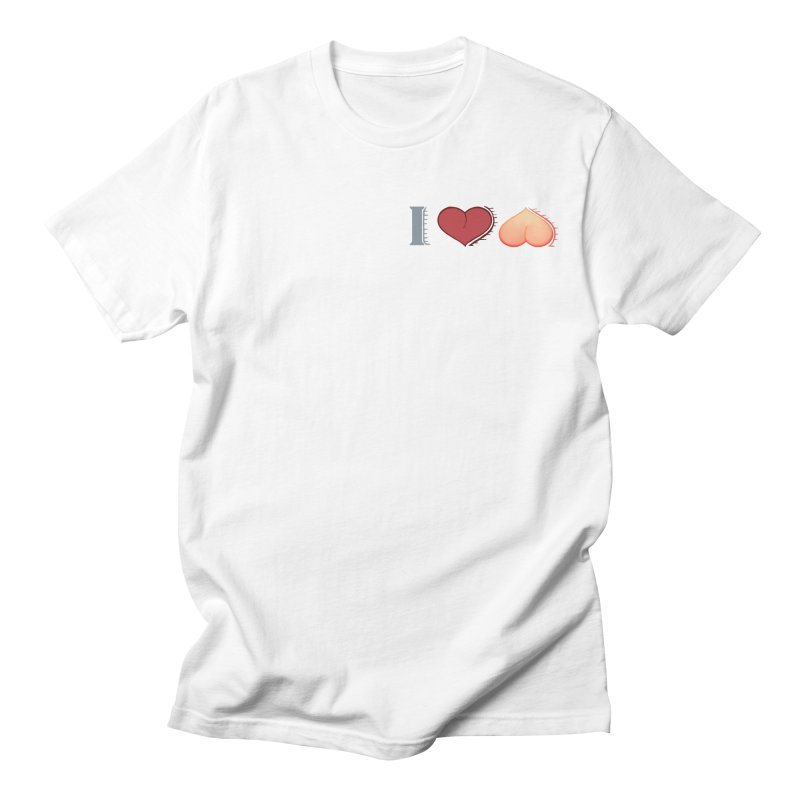 ILuh Peach Women's Regular Unisex T-Shirt by Justifiable Concepts Apparel and Goods