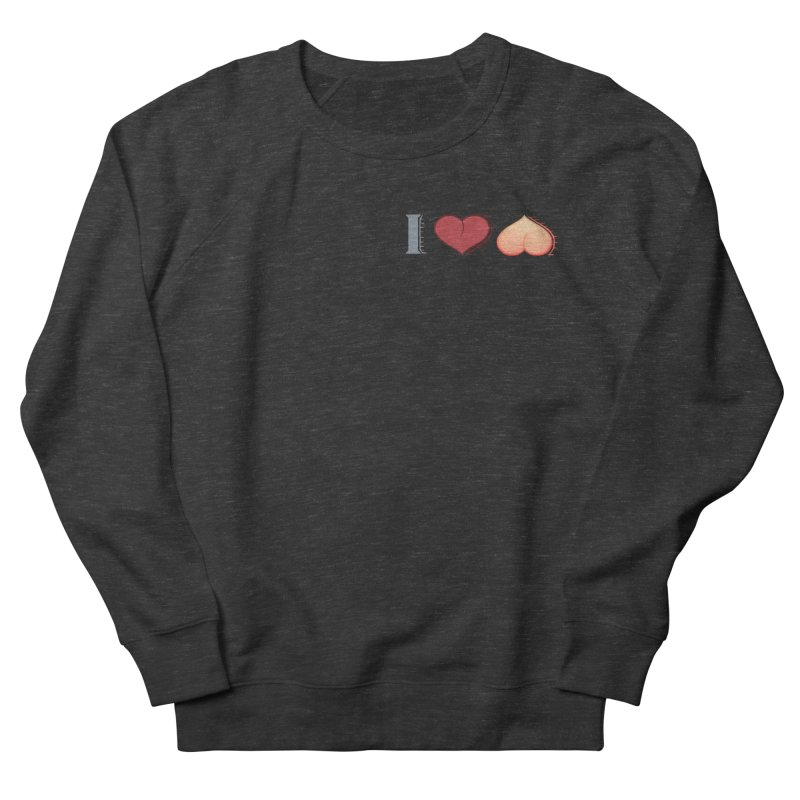 ILuh Peach Women's French Terry Sweatshirt by Justifiable Concepts Apparel and Goods