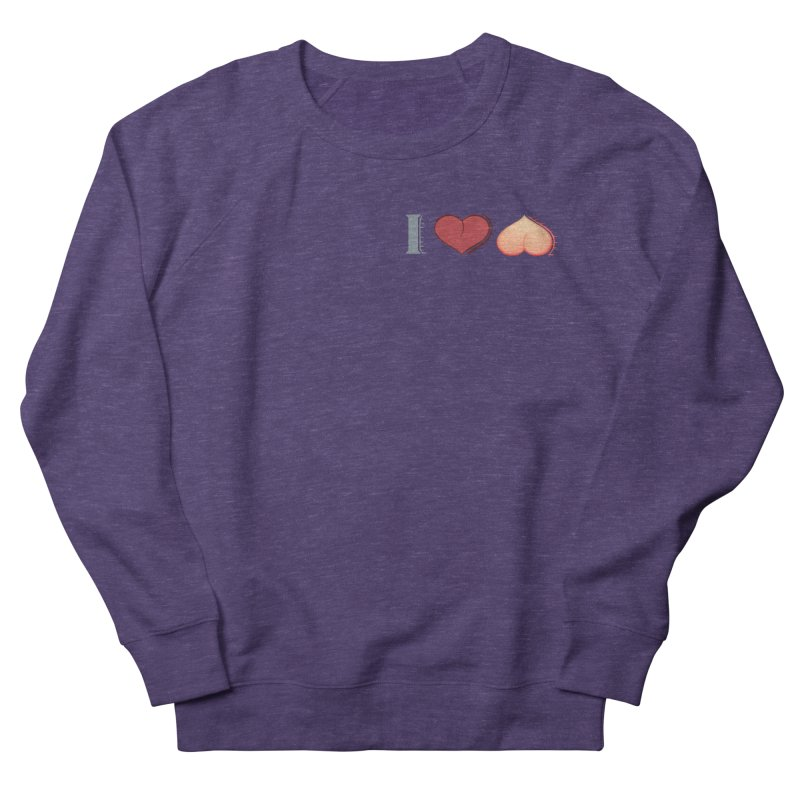 ILuh Peach Men's French Terry Sweatshirt by Justifiable Concepts Apparel and Goods