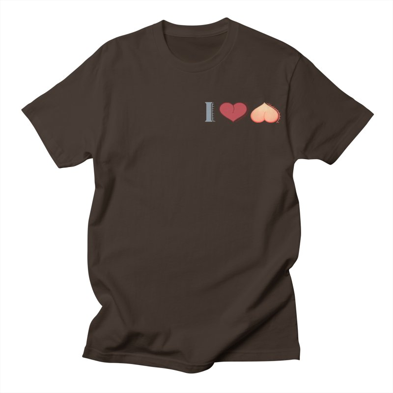 ILuh Peach Men's Regular T-Shirt by Justifiable Concepts Apparel and Goods