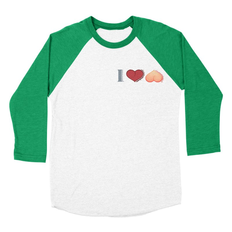 ILuh Peach Women's Baseball Triblend Longsleeve T-Shirt by Justifiable Concepts Apparel and Goods