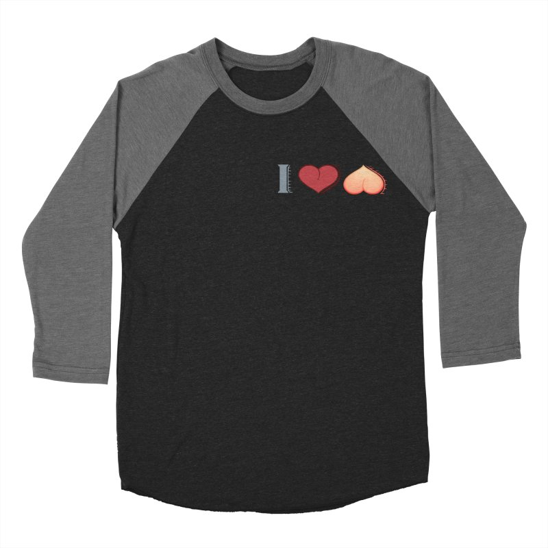 ILuh Peach Men's Baseball Triblend Longsleeve T-Shirt by Justifiable Concepts Apparel and Goods