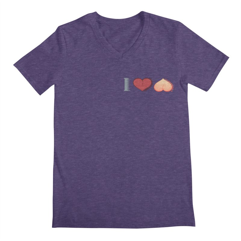 ILuh Peach Men's Regular V-Neck by Justifiable Concepts Apparel and Goods