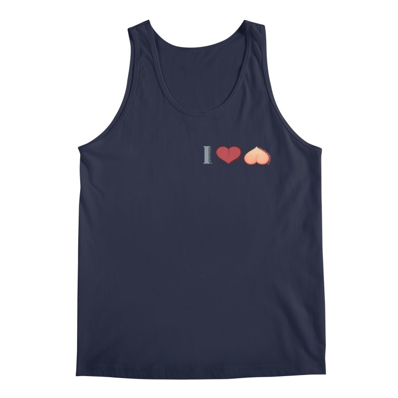 ILuh Peach Men's Regular Tank by Justifiable Concepts Apparel and Goods