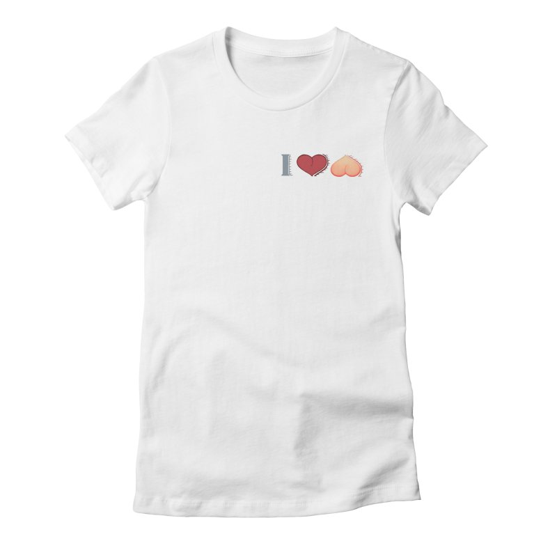 ILuh Peach Women's Fitted T-Shirt by Justifiable Concepts Apparel and Goods