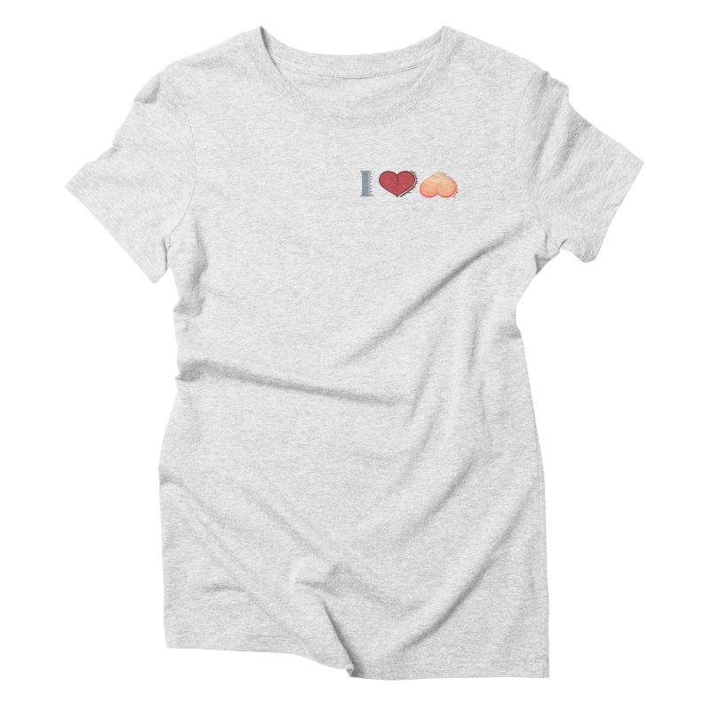 ILuh Peach Women's Triblend T-Shirt by Justifiable Concepts Apparel and Goods