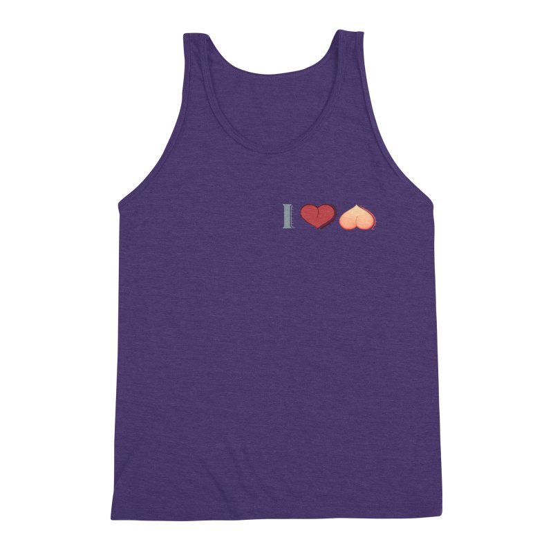 ILuh Peach Men's Triblend Tank by Justifiable Concepts Apparel and Goods
