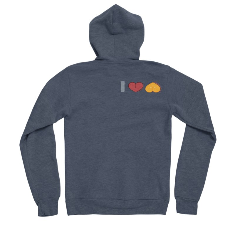 ILuh Melons Men's Sponge Fleece Zip-Up Hoody by Justifiable Concepts Apparel and Goods