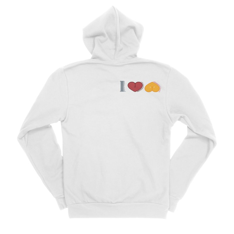 ILuh Melons Women's Sponge Fleece Zip-Up Hoody by Justifiable Concepts Apparel and Goods