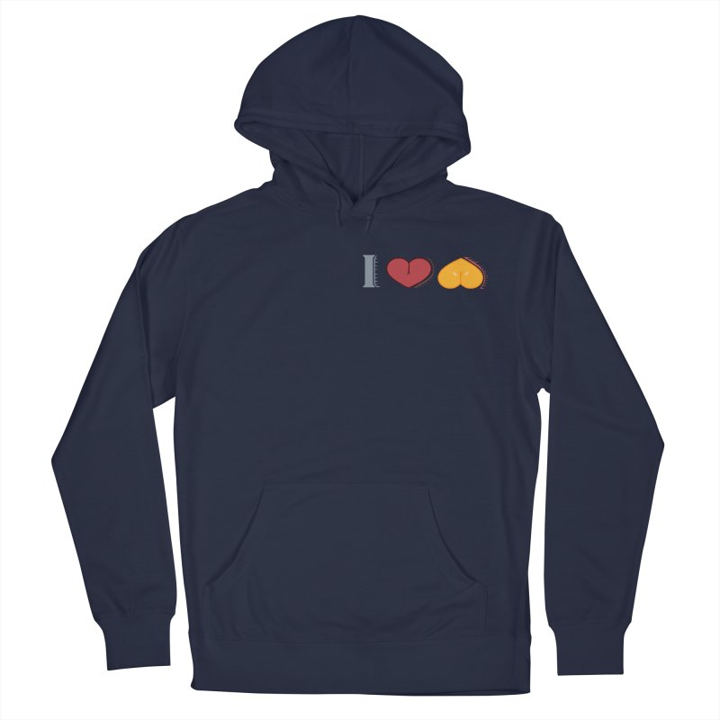 ILuh Melons Men's French Terry Pullover Hoody by Justifiable Concepts Apparel and Goods