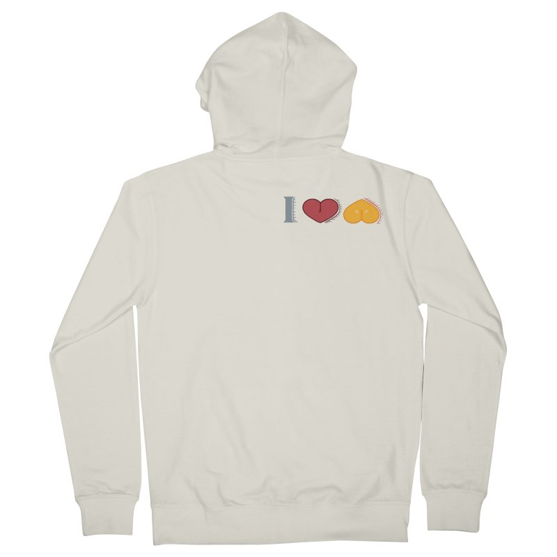 ILuh Melons Men's French Terry Zip-Up Hoody by Justifiable Concepts Apparel and Goods