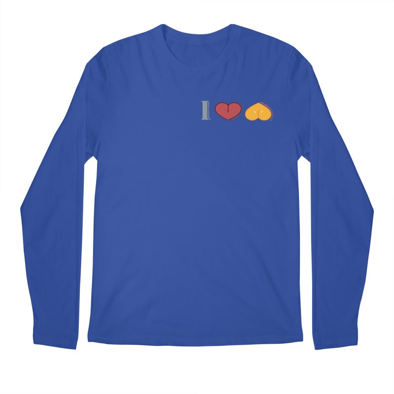 ILuh Melons Men's Regular Longsleeve T-Shirt by Justifiable Concepts Apparel and Goods