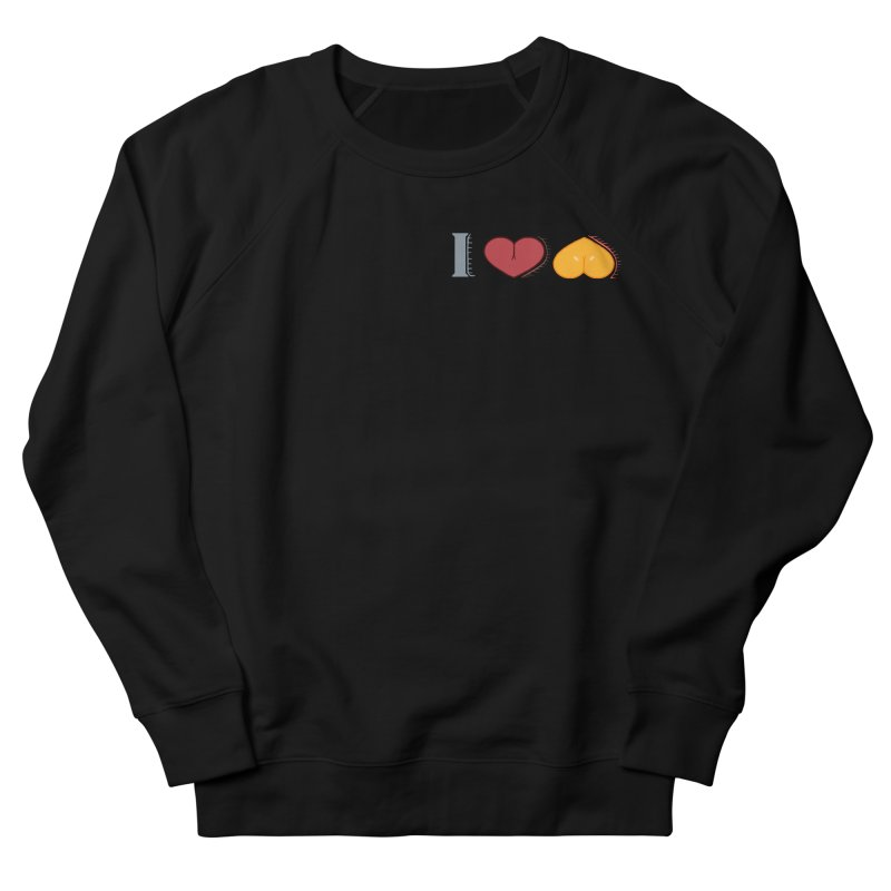 ILuh Melons Men's French Terry Sweatshirt by Justifiable Concepts Apparel and Goods