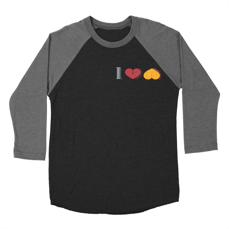 ILuh Melons Men's Baseball Triblend Longsleeve T-Shirt by Justifiable Concepts Apparel and Goods
