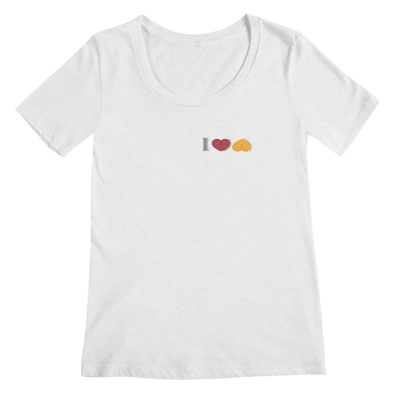 ILuh Melons Women's Regular Scoop Neck by Justifiable Concepts Apparel and Goods