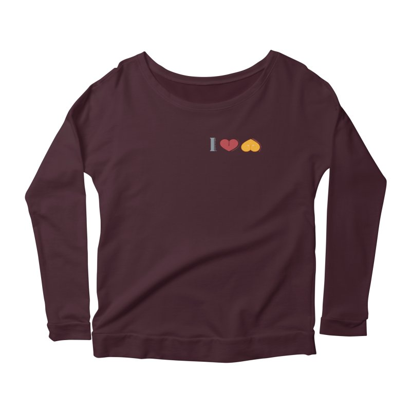 ILuh Melons Women's Scoop Neck Longsleeve T-Shirt by Justifiable Concepts Apparel and Goods