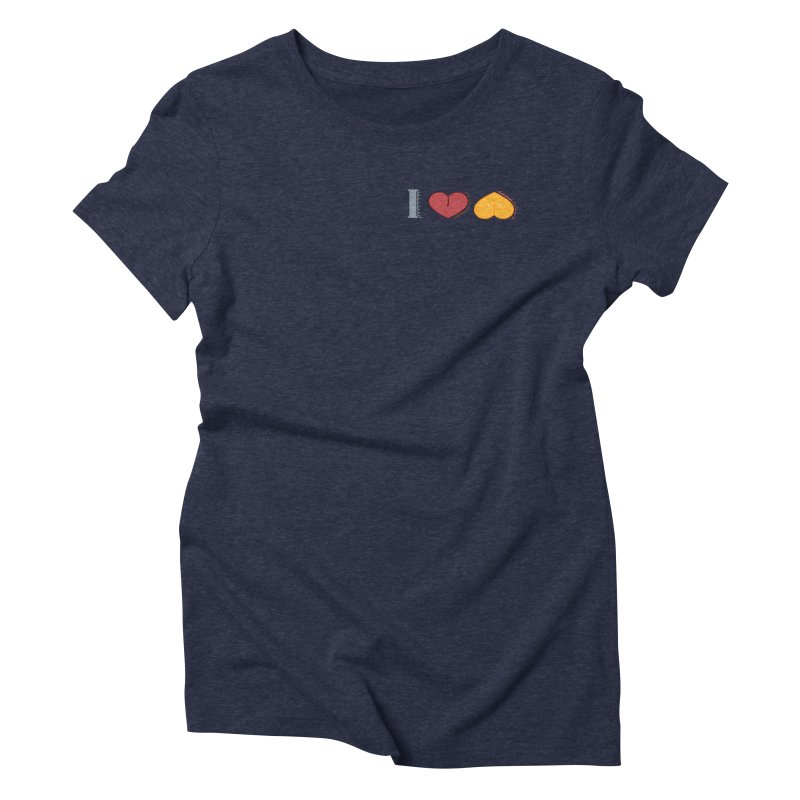 ILuh Melons Women's Triblend T-Shirt by Justifiable Concepts Apparel and Goods