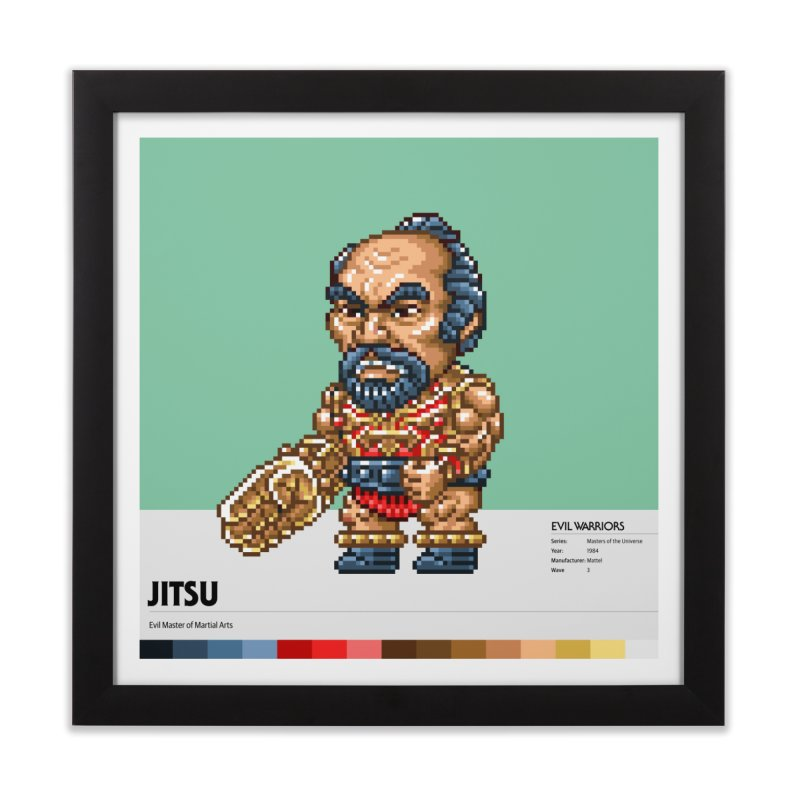 Evil Master of Martial Arts Home Framed Fine Art Print by Gifts by Gammon