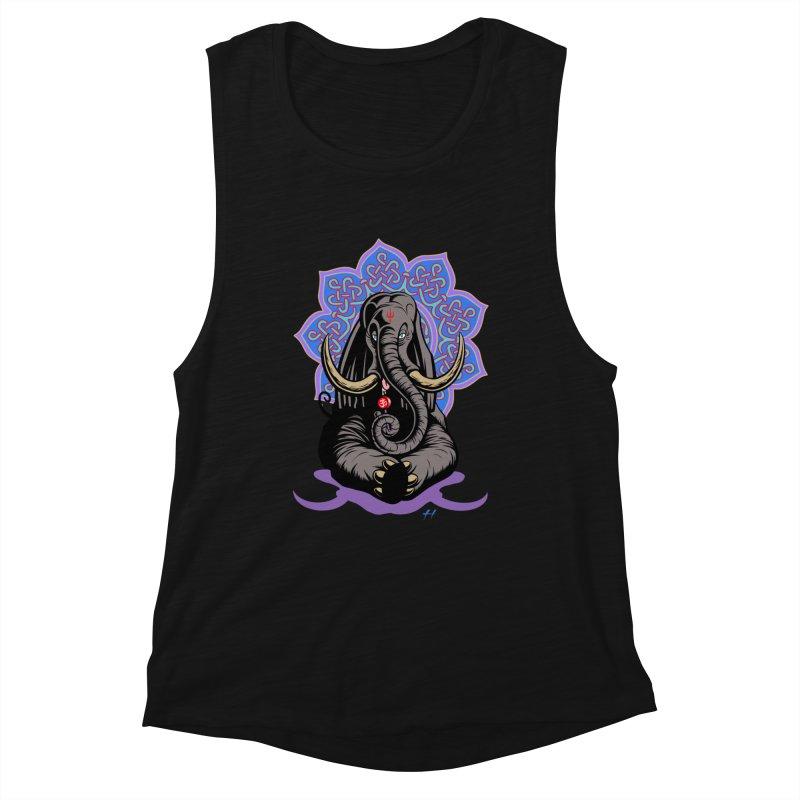Ganesha Lollipop shirt Women's Tank by Hamptonia, Justin Hampton's Artist Shop