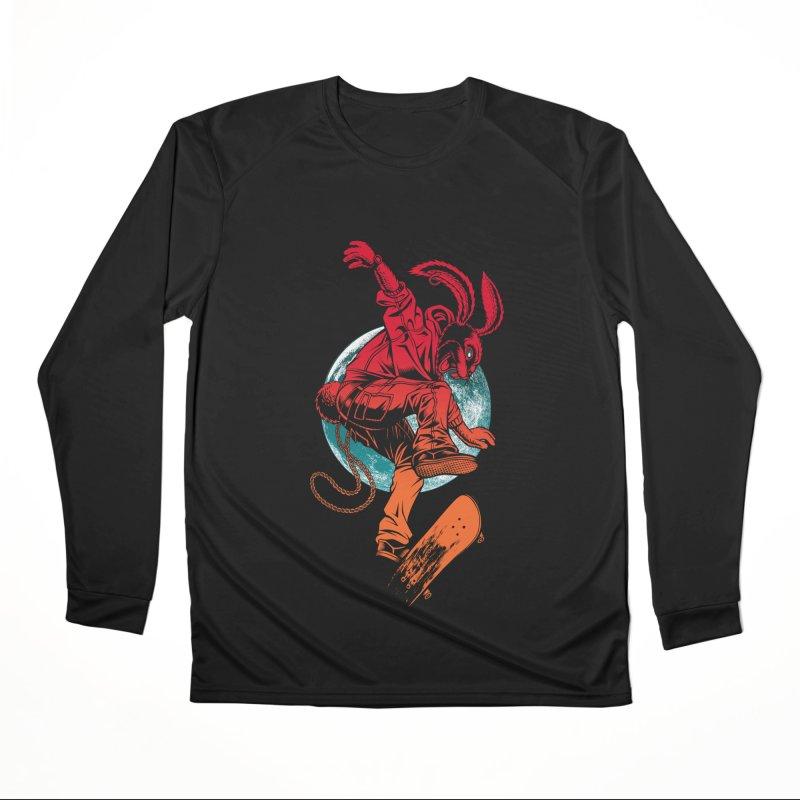 Skate Punk Wabbit Women's Longsleeve T-Shirt by Hamptonia, Justin Hampton's Artist Shop