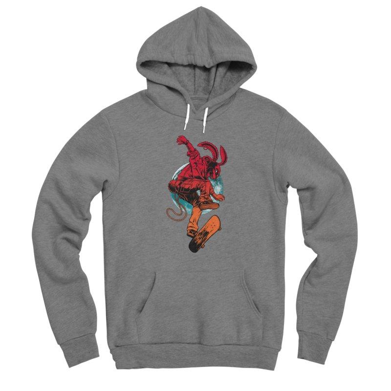 Skate Punk Wabbit Men's Pullover Hoody by Hamptonia, Justin Hampton's Artist Shop