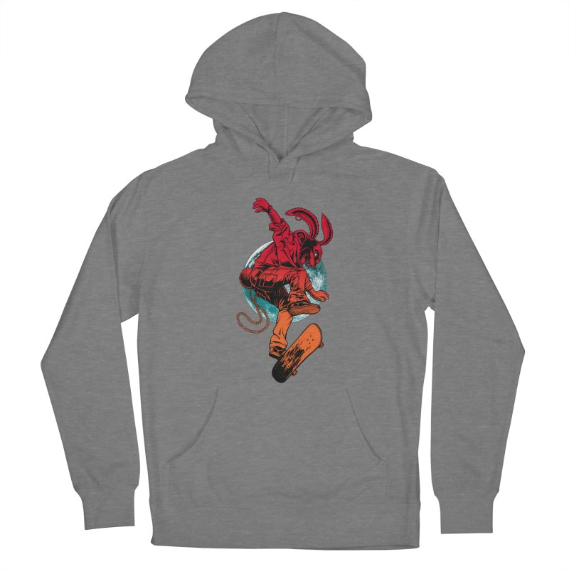 Skate Punk Wabbit Women's Pullover Hoody by Hamptonia, Justin Hampton's Artist Shop