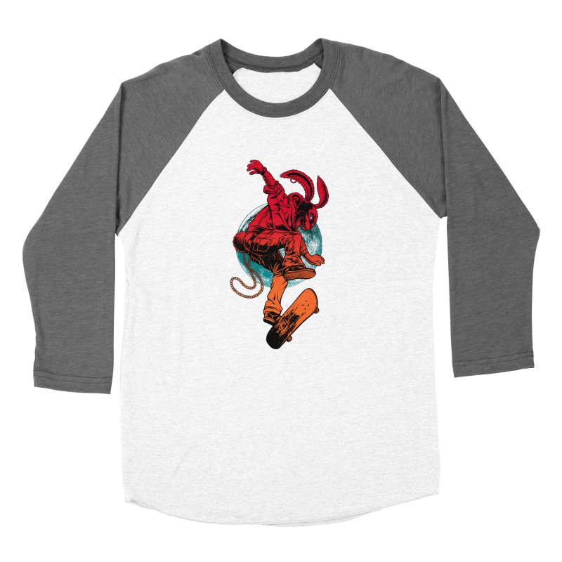 Skate Punk Wabbit Women's Longsleeve T-Shirt by Hamptonia, Justin Hampton's Artist Shop