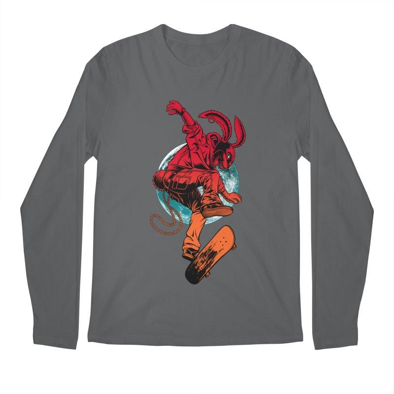 Skate Punk Wabbit Men's Longsleeve T-Shirt by Hamptonia, Justin Hampton's Artist Shop